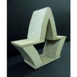 "Jennifer Lema (2011). Chair Design. Medium: wood. Dimensions: 8""x20""x23""."