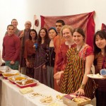 Students from last year's semester abroad trip to India and Professor David Bell.